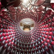 Studio Gang's stacked-tube Hive installation opens in Washington DC