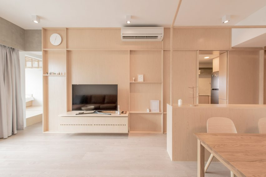 Mnb Design Studio refurbishes compact apartment in Hong Kong