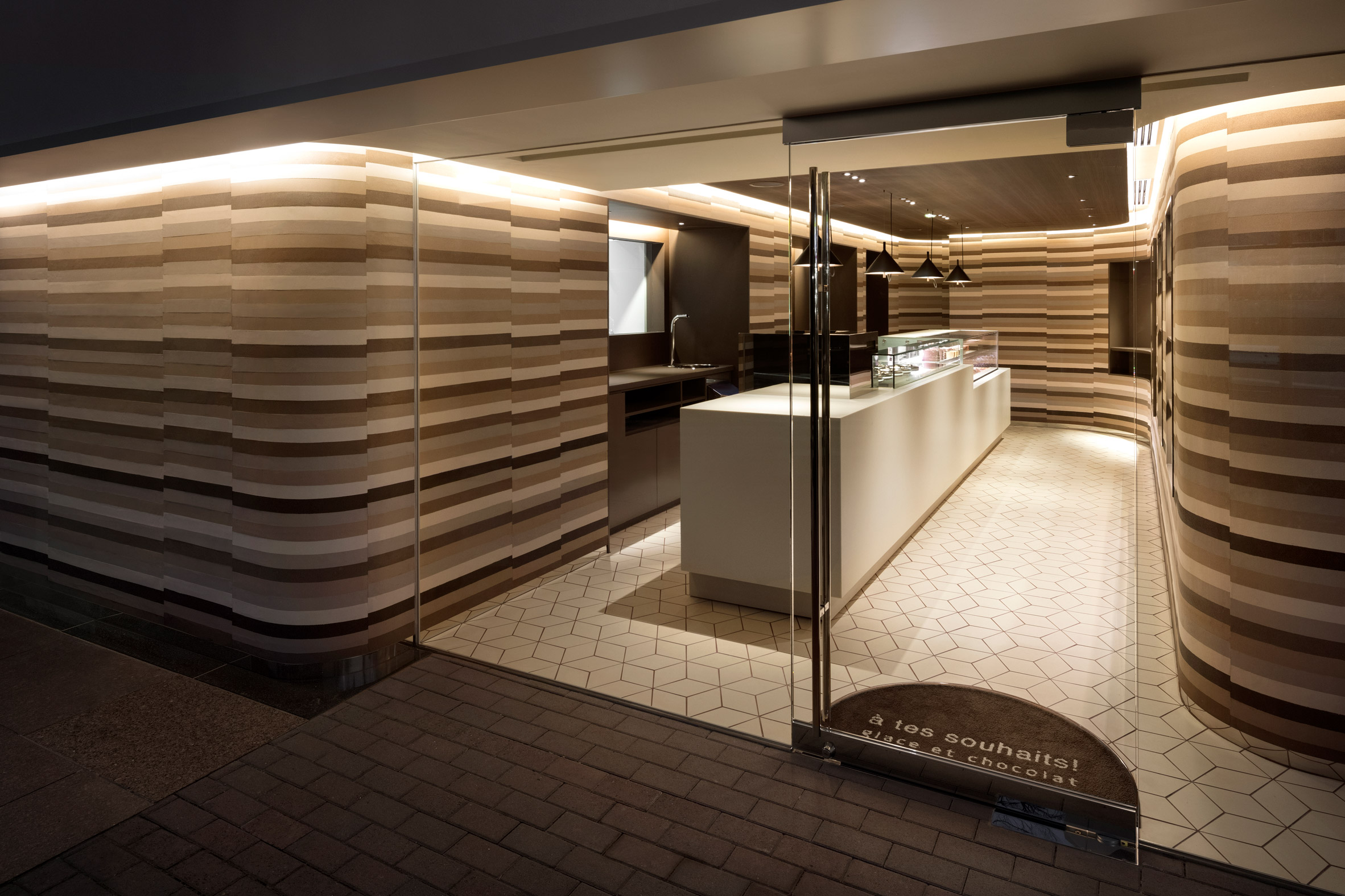 "Nendo designs Tokyo store interior to look like ""melted ice cream cake"""