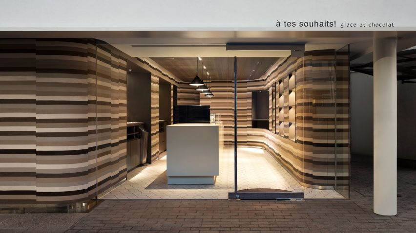 Nendo designs store interior to look like melted ice cream cake