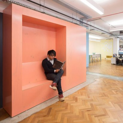 interior designs for office. modren for interrobang fills its office with custom plywood furniture painted the  colours of insulating foam to interior designs for office r