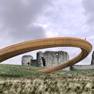 Controversial Iron Ring set to be submerged in landscape beside a Welsh castle