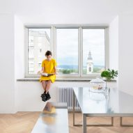 Arhitektura DOO refurbishes Edvard Ravnikar-designed apartment in modernist Ljubljana tower