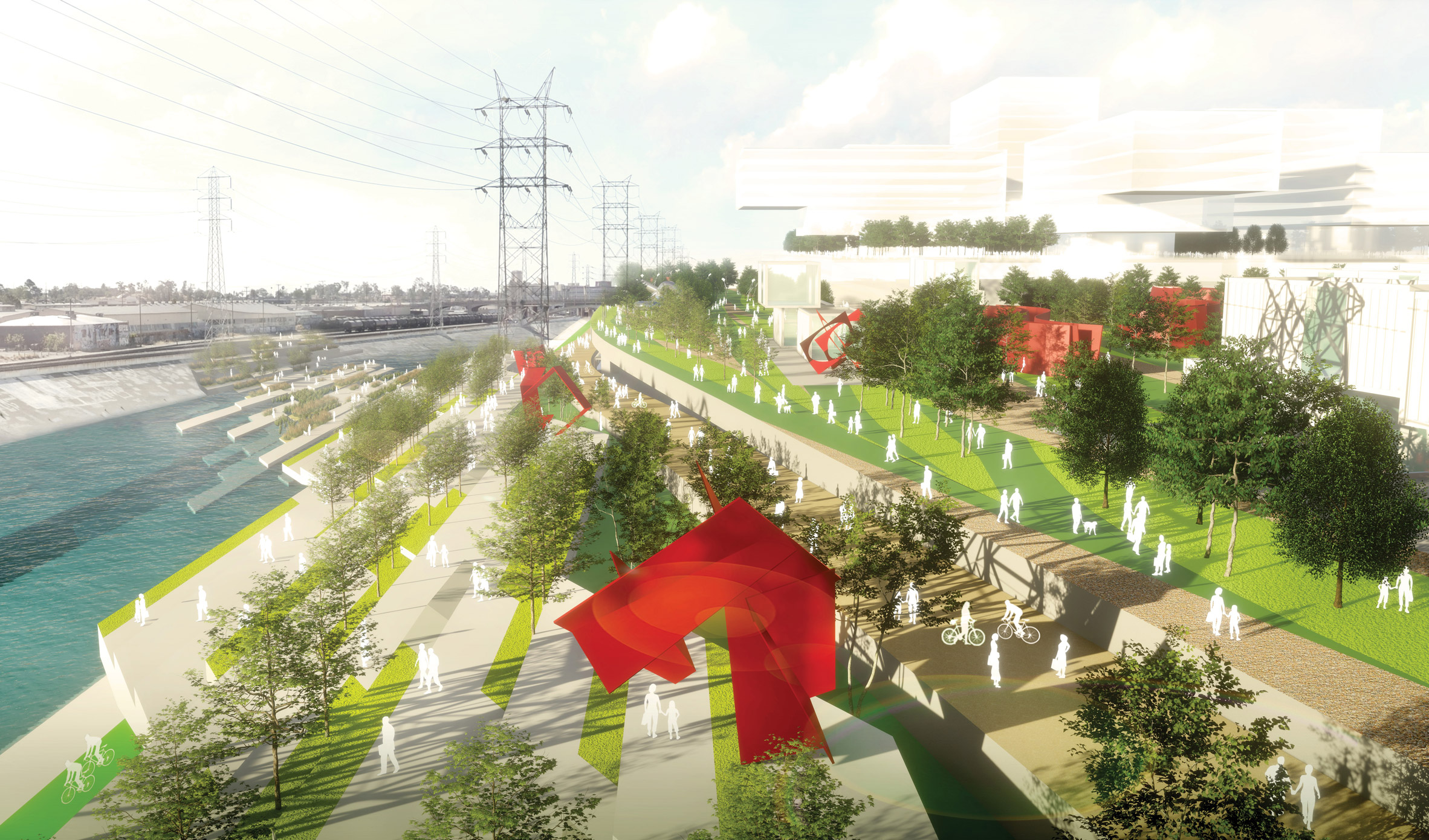 Architects' proposals to revitalise the Los Angeles River