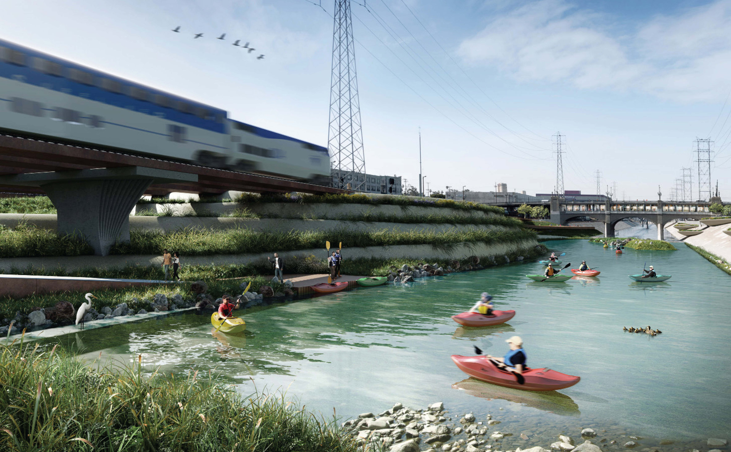 Los Angeles River could be revitalised with designs from seven architecture firms