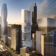 "Zaha Hadid Architects unveils new visuals for ""stacked vases"" hotel tower in Melbourne"