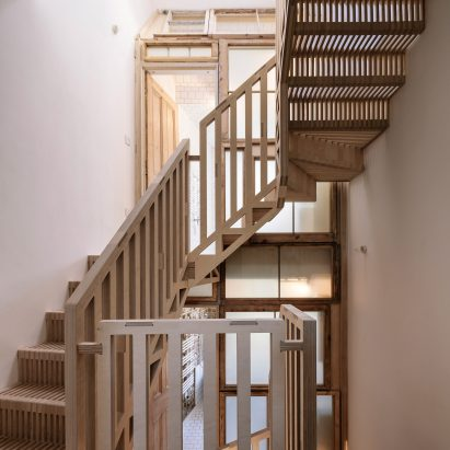 Tsuruta Architects Designs Staircase In London House From Hundreds Of  Plywood Pieces