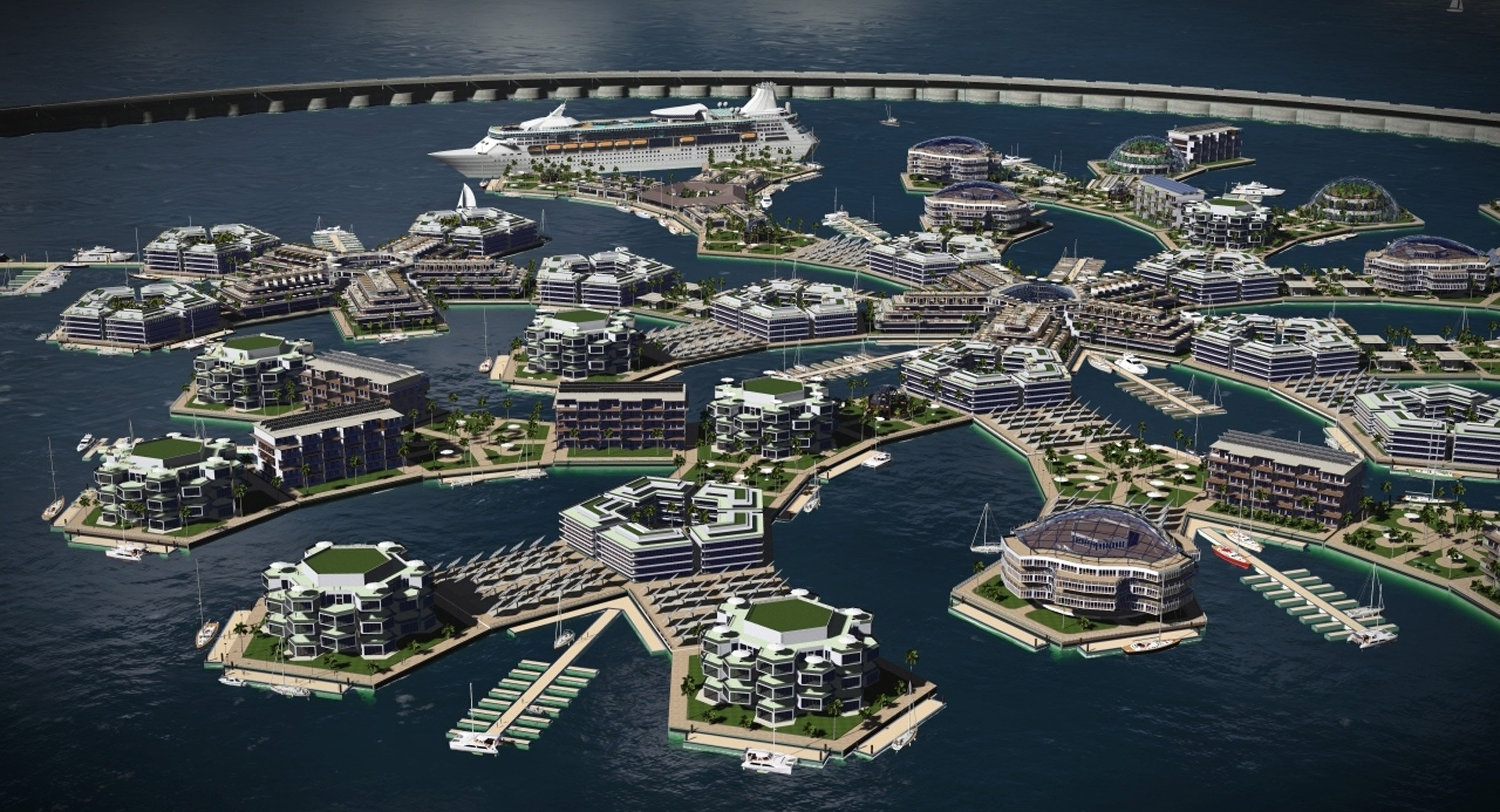 The Seasteading Institute's floating cities are designed for unregulated innovation