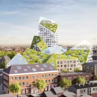 MVRDV unveils plans for Eindhoven housing with jagged grass-covered roofs