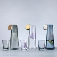 Tomas Kral designs parrot-inspired glassware for Nude