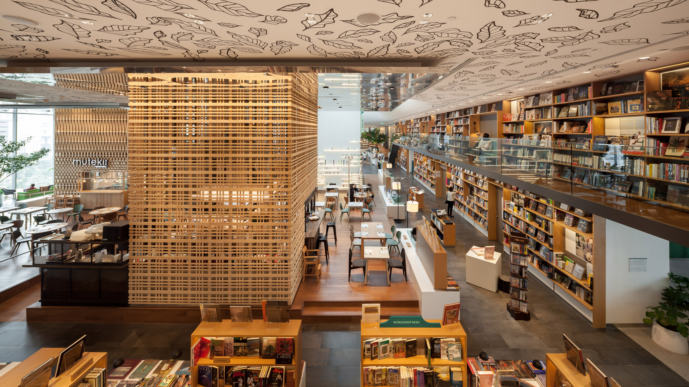 Klein Dytham creates book-lined leisure space inside AL_A's Central Embassy tower in Bangkok