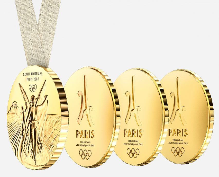 Philippe Starck's Paris 2024 Olympic medals are designed to