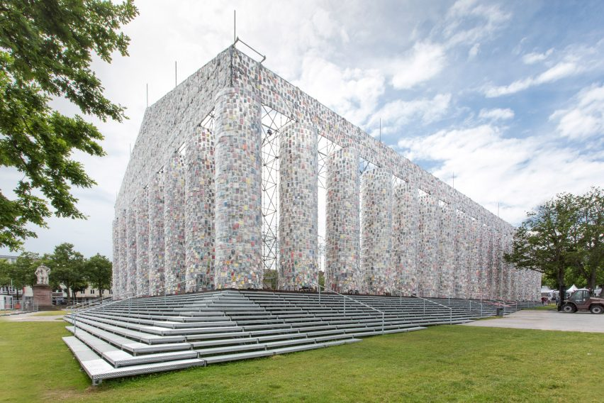 Parthenon of Books by Marta Minujín