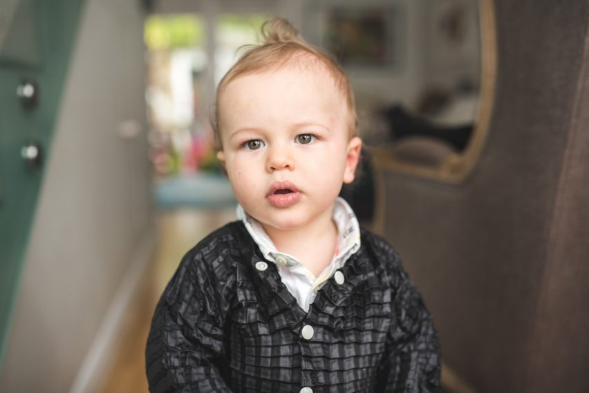 Graduate Ryan Mario Yasin designs clothes that grow with your child, called Petit Pli