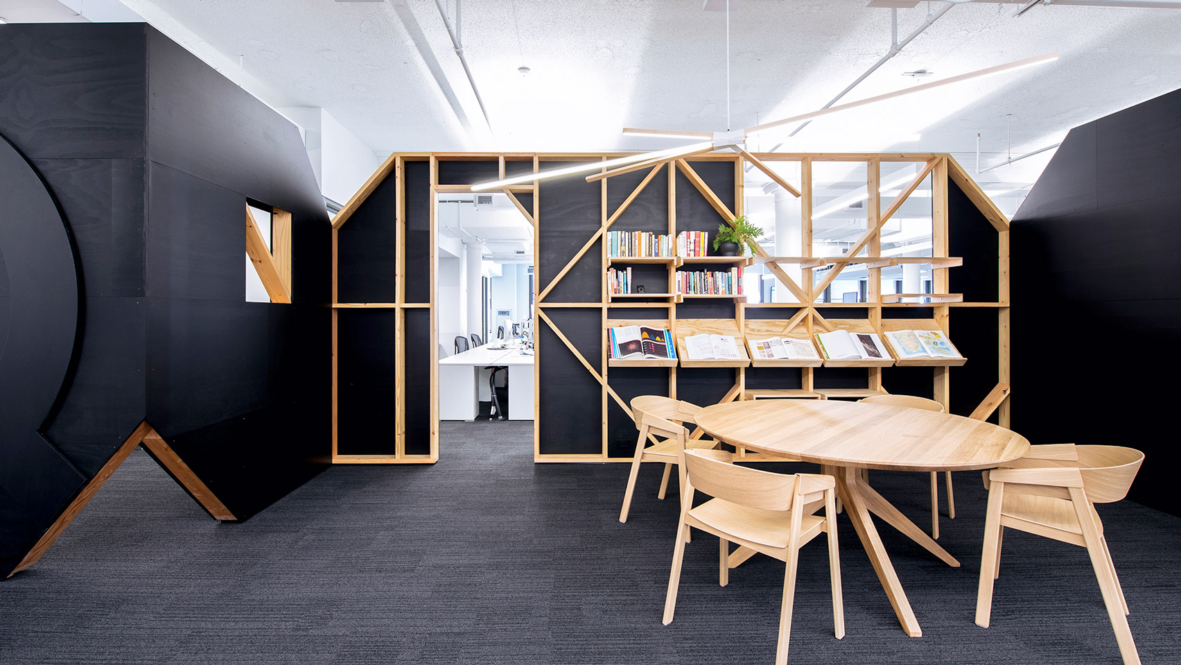 Desai chia captures quirky character of media brand for Office design dezeen