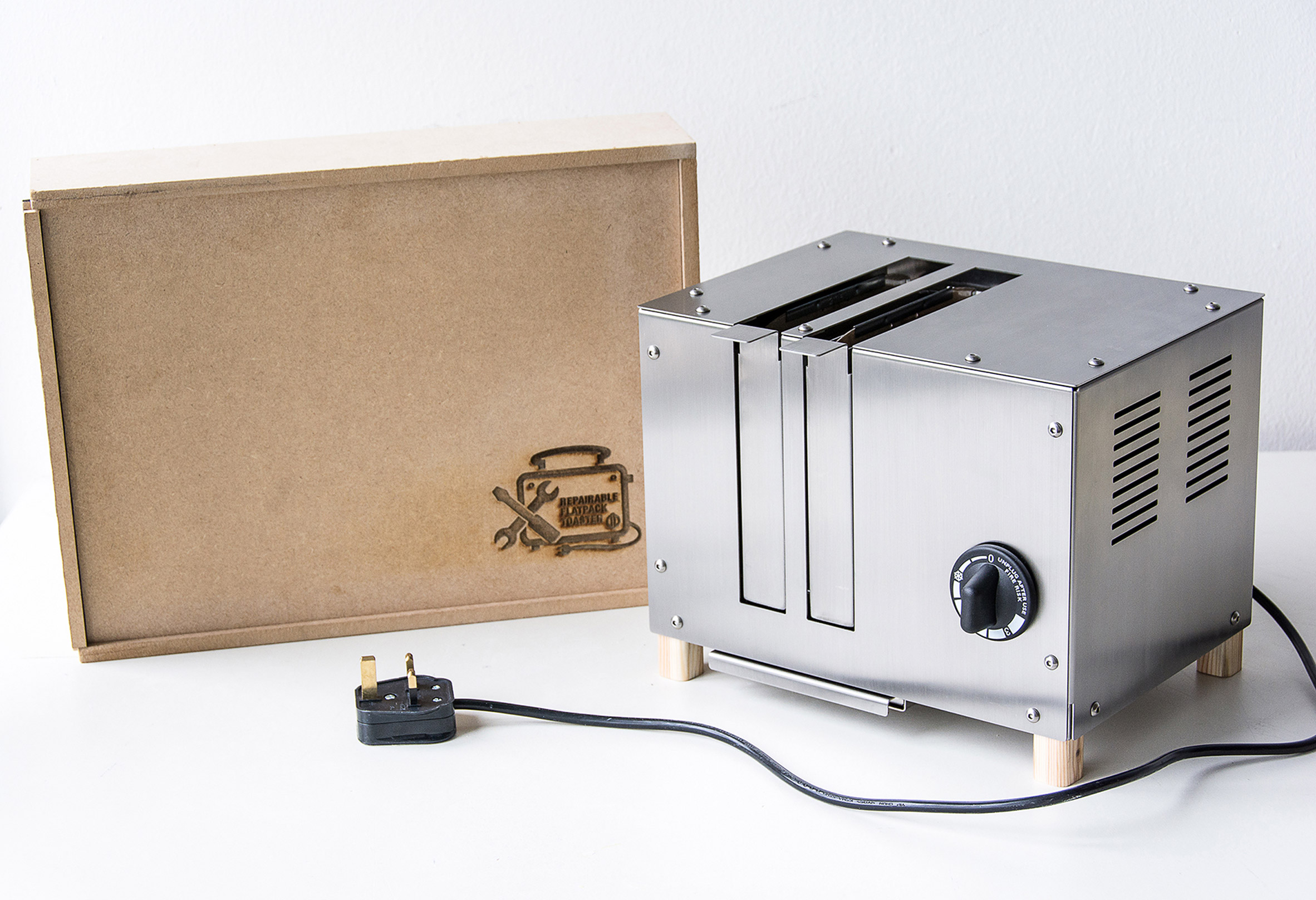 Kasey Hou aims to reduce electrical waste with flat-pack repairable toaster