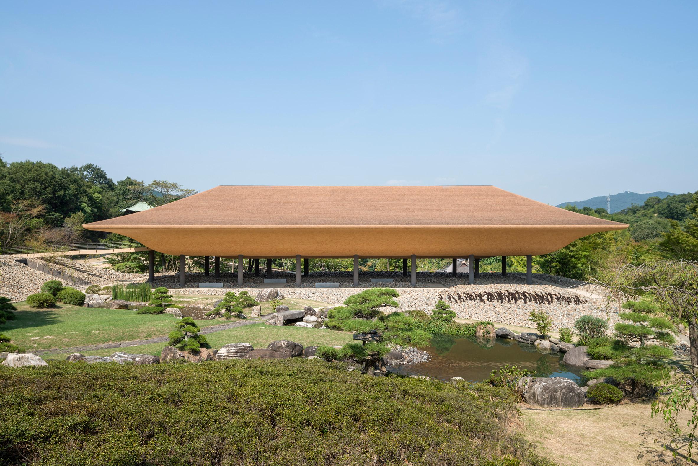 Shinshoji Zen Museum pavilion by Kohei Nawa and Sandwich studio