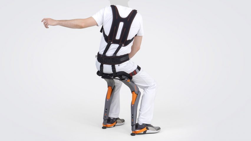 Chairless Chair Is Designed To Provide Support For Active Factory