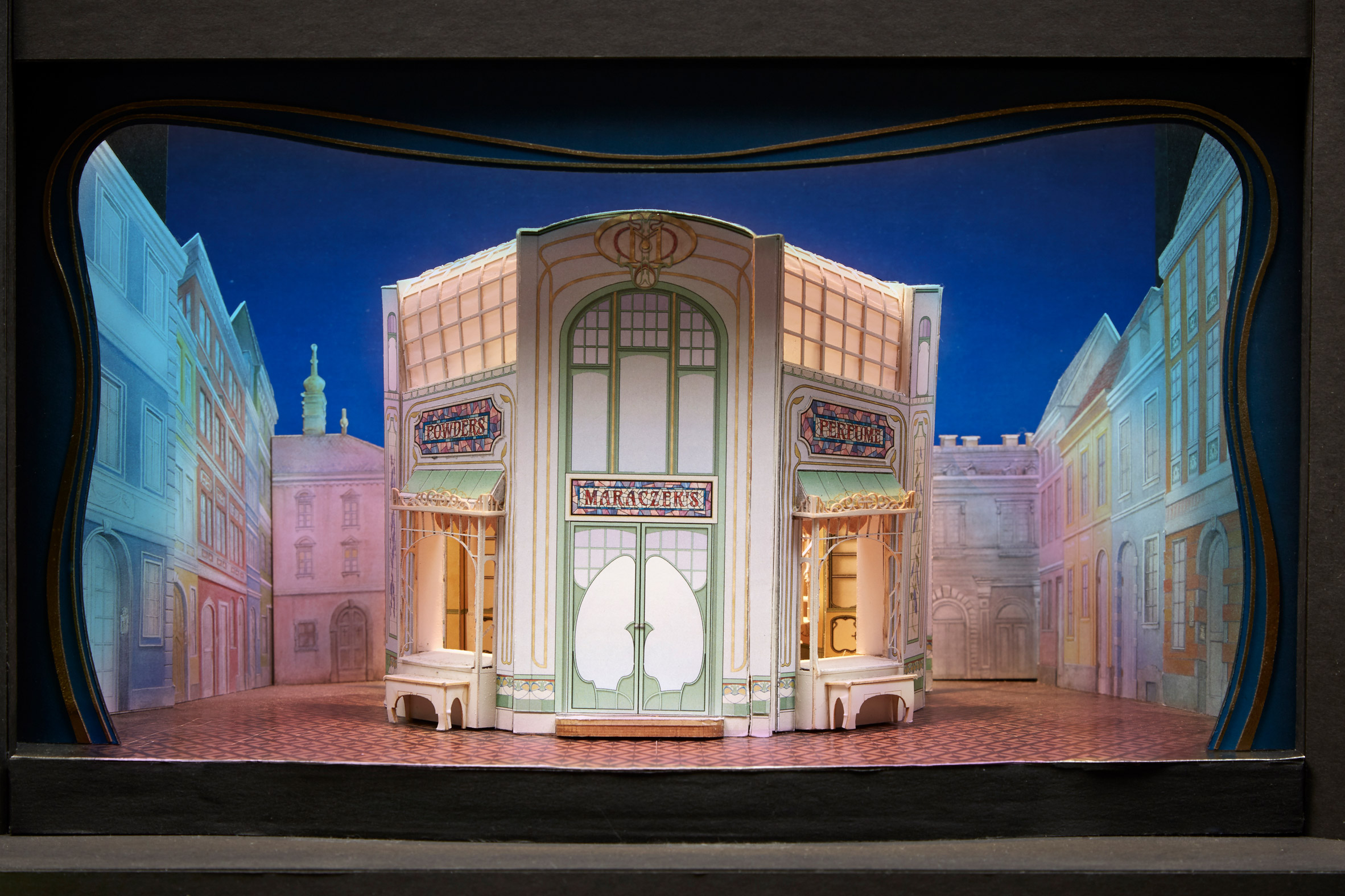 David Rockwell shares photographs of detailed theatre set models