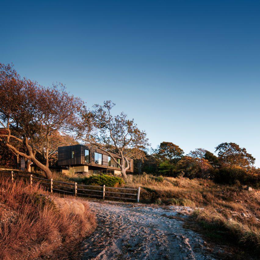 Shore House by Leroy Street Studio overlooks a Long Island bay