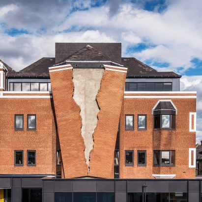Alex Chinneck Creates Giant Rip In The Brick Facade Of A London Building