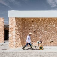 Munarq Arquitectes uses sandstone, cork, ceramic bricks and wicker to build solar-powered winery in Majorca