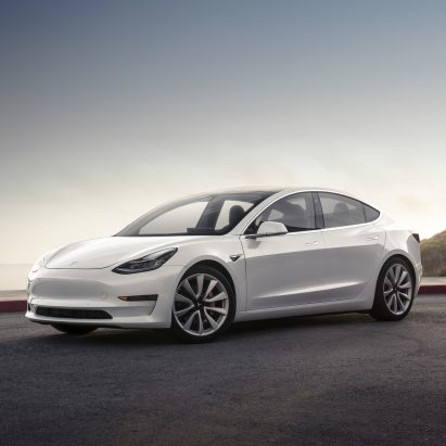 Electric car company Tesla unveils Model 3