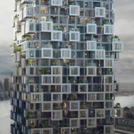 MVRDV designs new Rotterdam skyscraper featuring pixellated walls