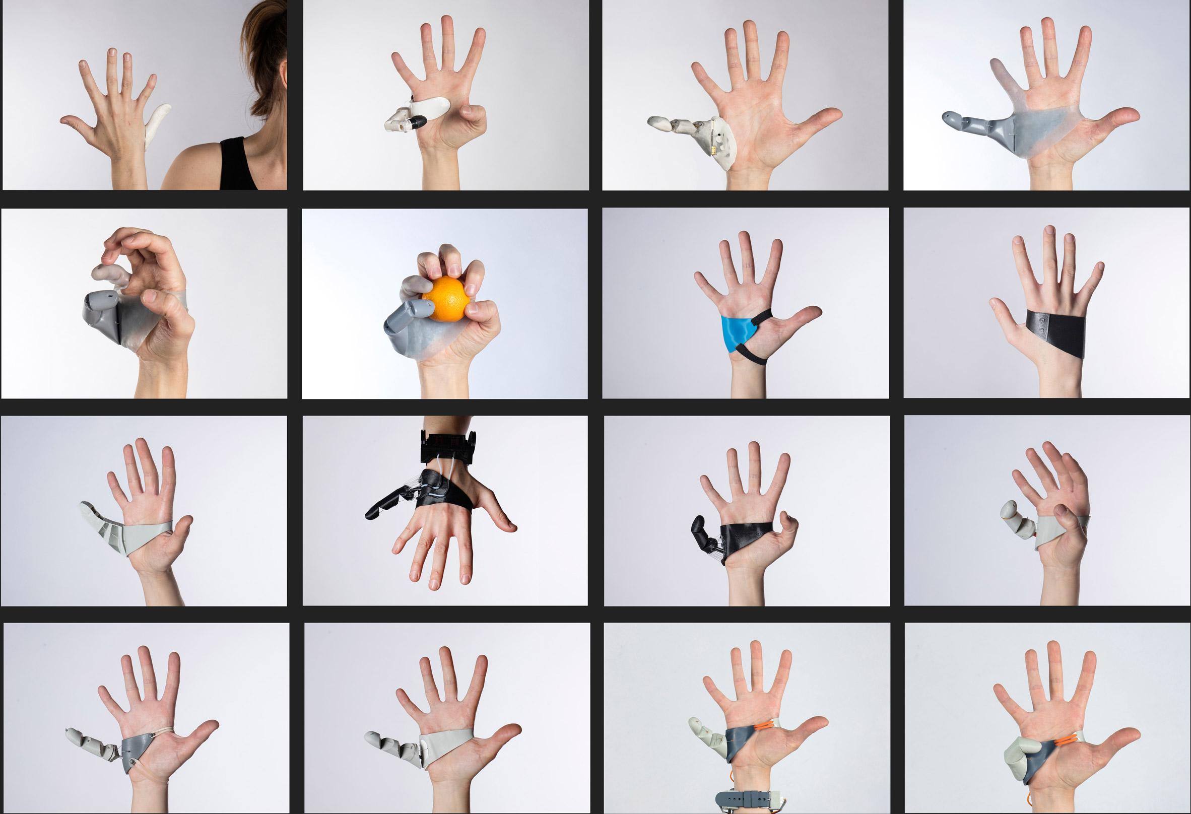 вспомогательный палец руки номер шесть