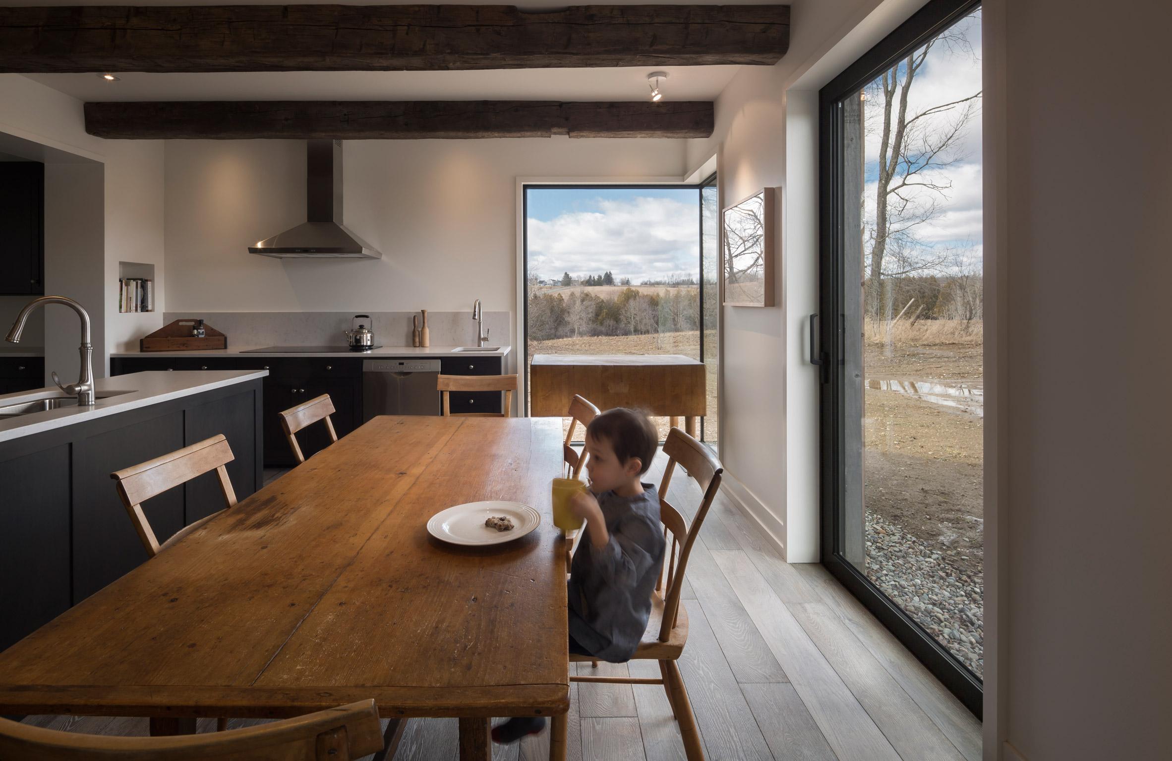 Toronto firm LAMAS design Townships Farmhouse near Montreal