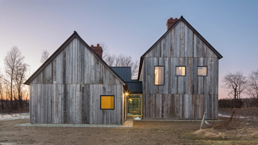 Toronto firm LAMAS design Townships Farmhouse near Montreal