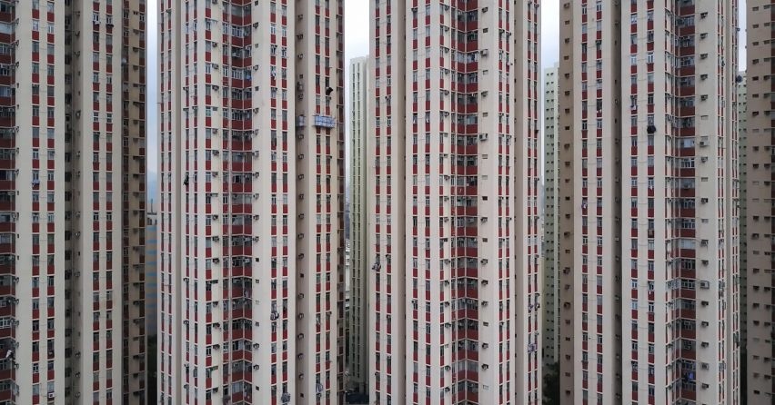 Drone film by Mariana Bisti captures Hong Kong's densely packed high-rise buildings