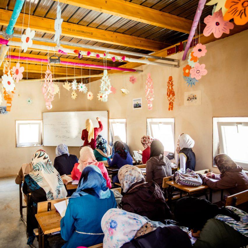 Za'atari camp school, Jordan, for Syrian refugees