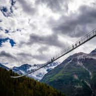 World's longest pedestrian suspension bridge traverses a Swiss valley