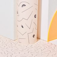 Petite Friture's Abstraction collection includes lighting and wallpaper