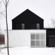 Monochrome Canadian ski lodge by Atelier Kastelic Buffey echoes traditional farmhouses
