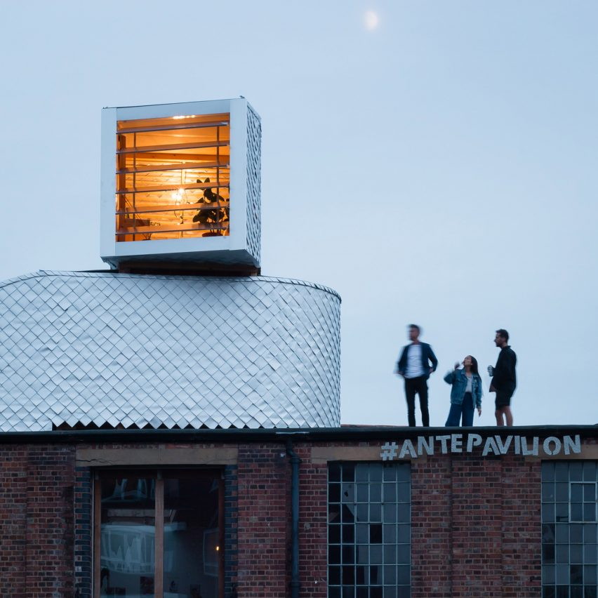 PUP Architects builds rooftop pavilion disguised as warehouse air duct