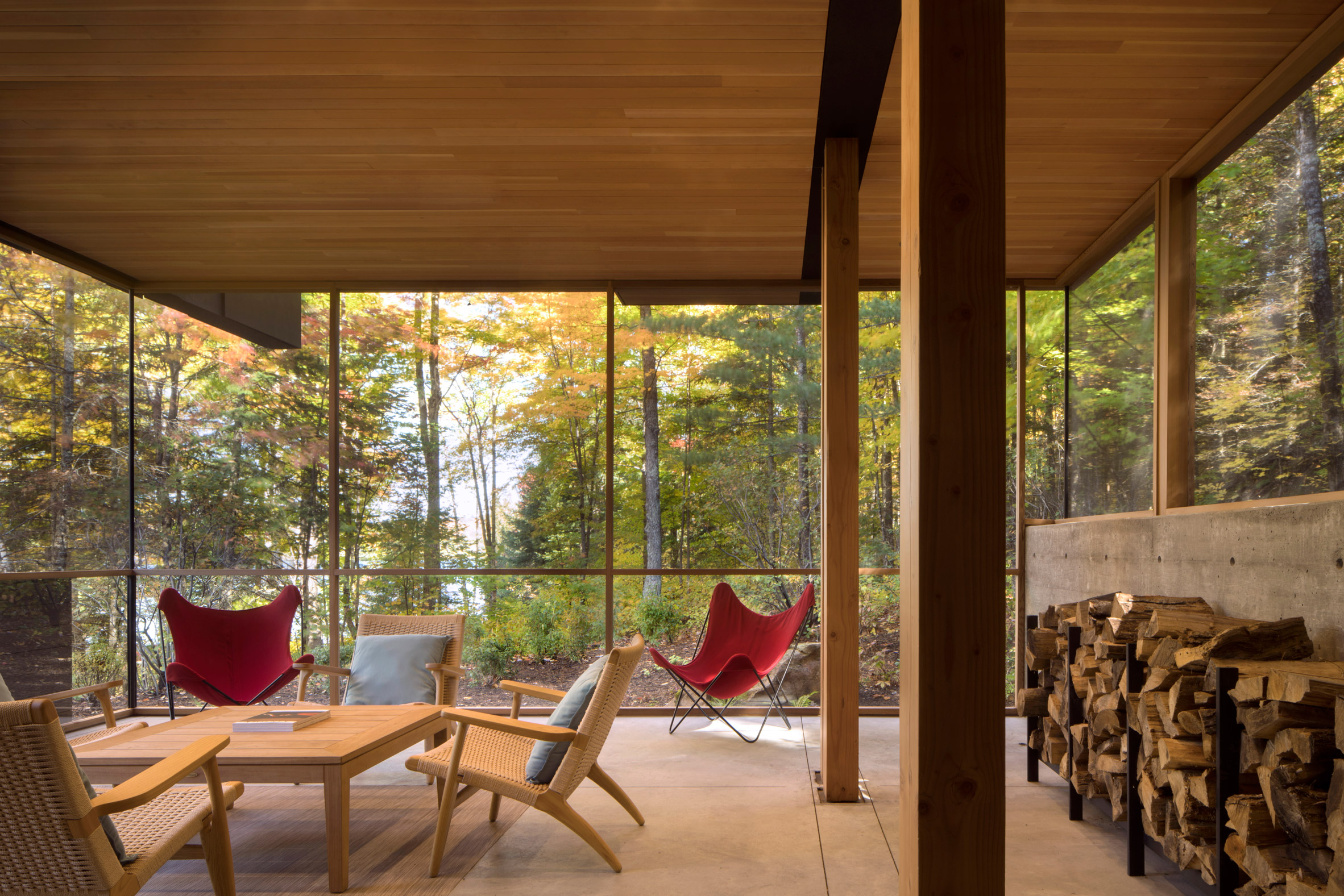 Bohlin Cywinski Jackson creates remote holiday retreat in Ontario forest