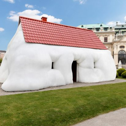 Erwin Wurms Fat House Installed Outside Baroque Palace In Vienna