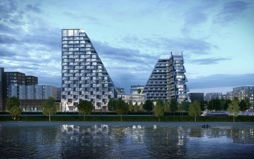 Peter Pichler unveils figure-of-eight-shaped housing complex with rooftop running track