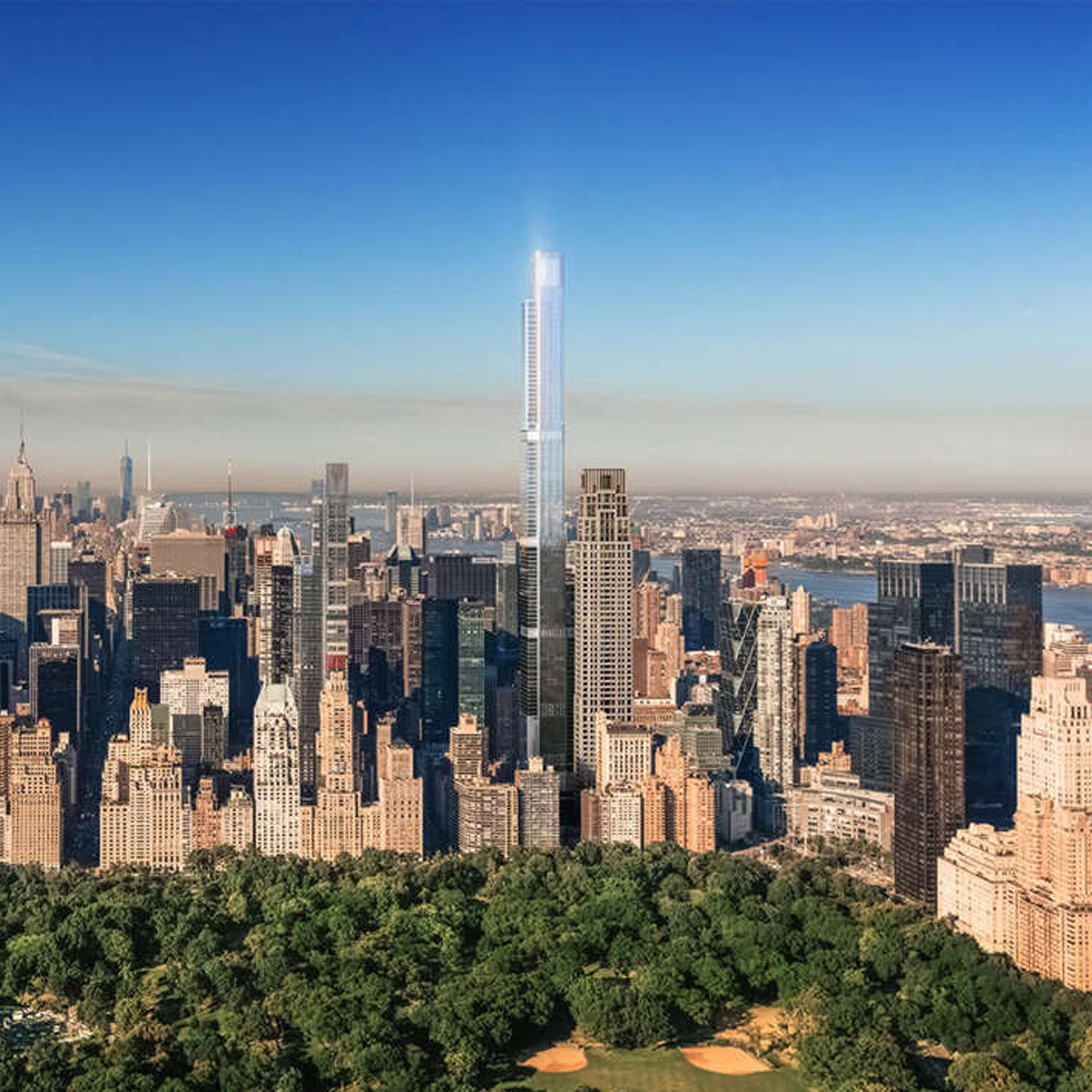 skyscraper architecture and tall buildings dezeen magazine central park tower to become world s tallest residential skyscraper