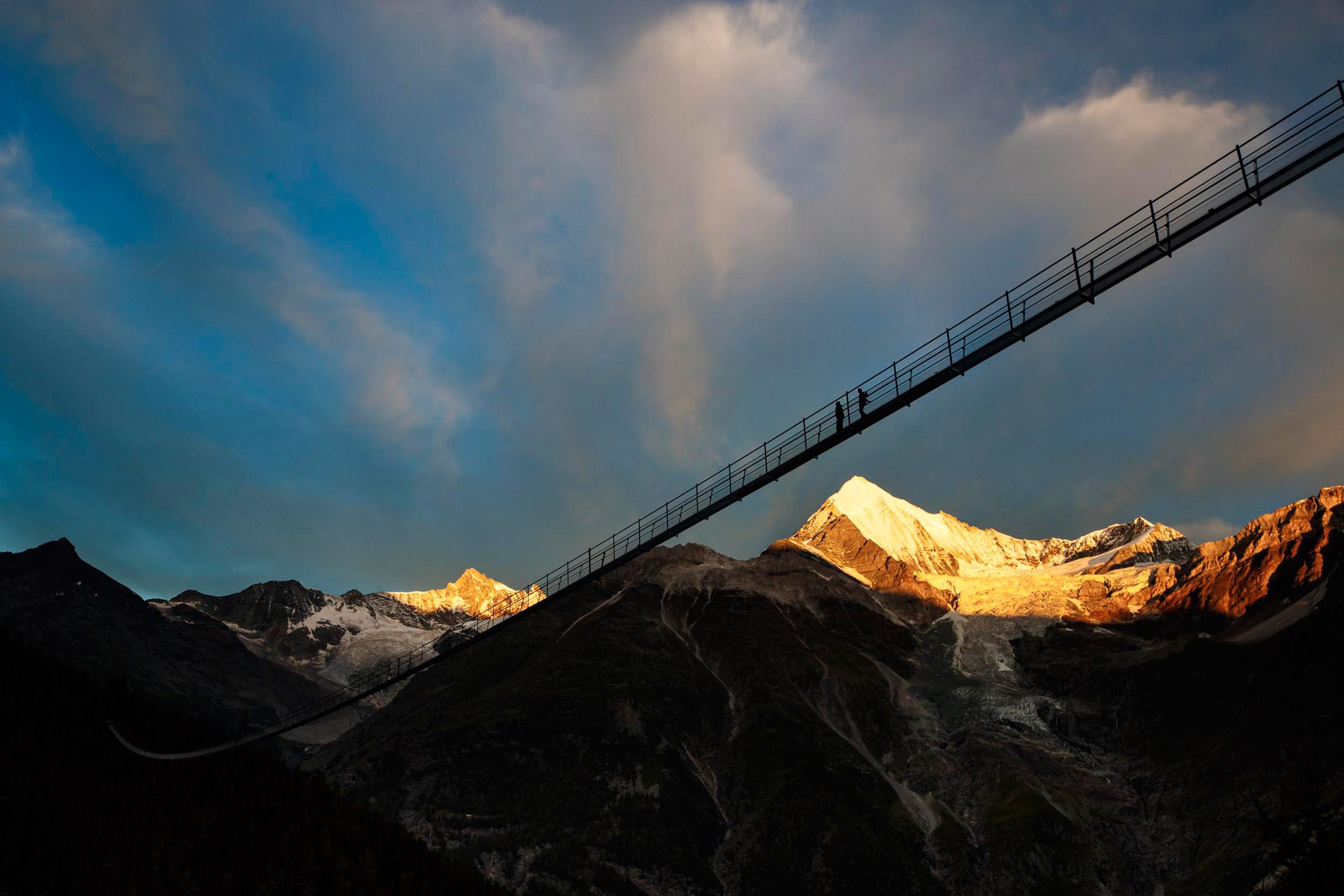 Charles Kuonen Suspension Bridge by Swissrope