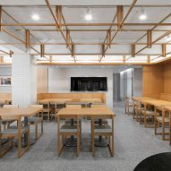 Korean firm By Seog Be Seog decorate Seoul restaurant interior with oak