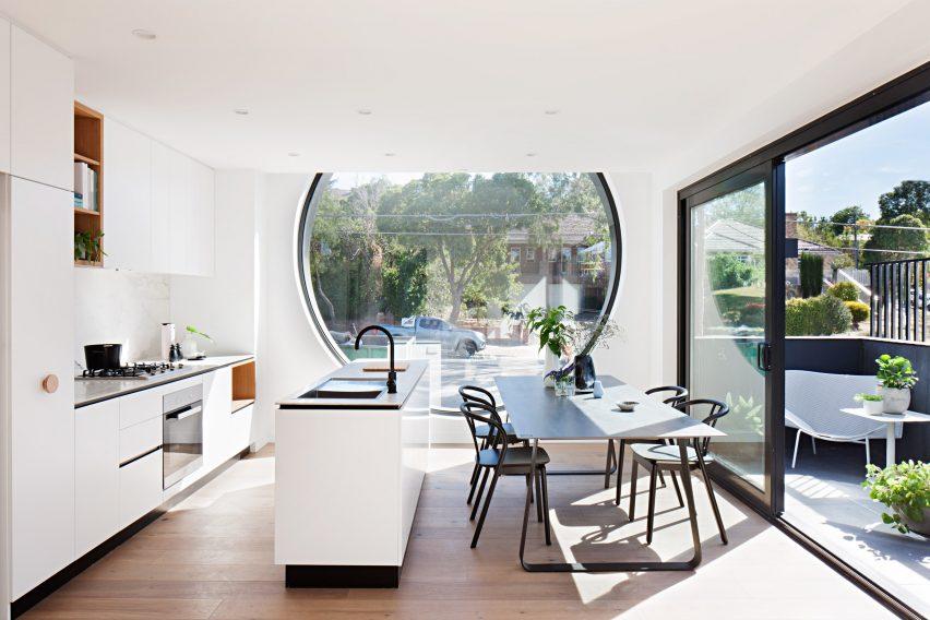 Huge Porthole Windows Bathe Melbourne Apartments With
