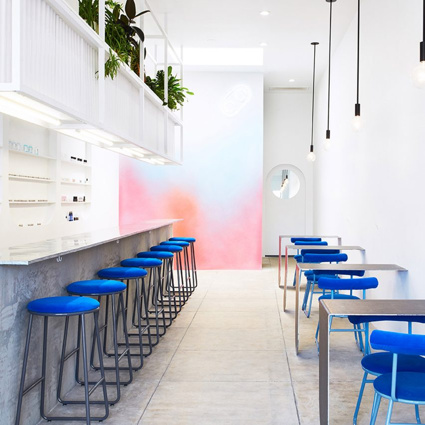 Colorful Minimal Room: J Byron-H Designs Minimalist Nail Bar In Los Angeles