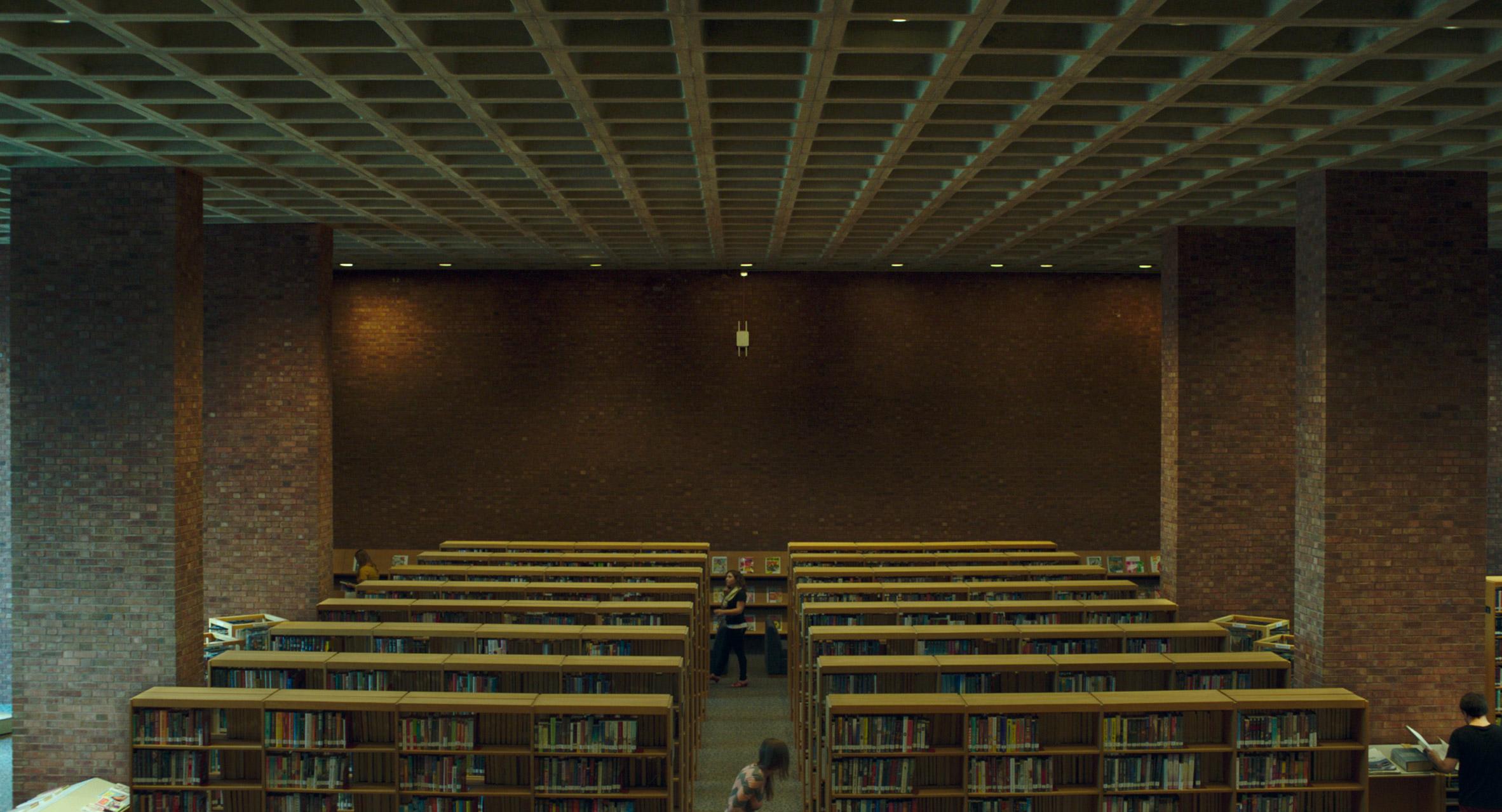 Stills from Columbus movie by Kogonada