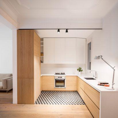 Adrian Elizalde And Clara Ocaa Eschew Tiles For Timber In Barcelona Apartment Renovation