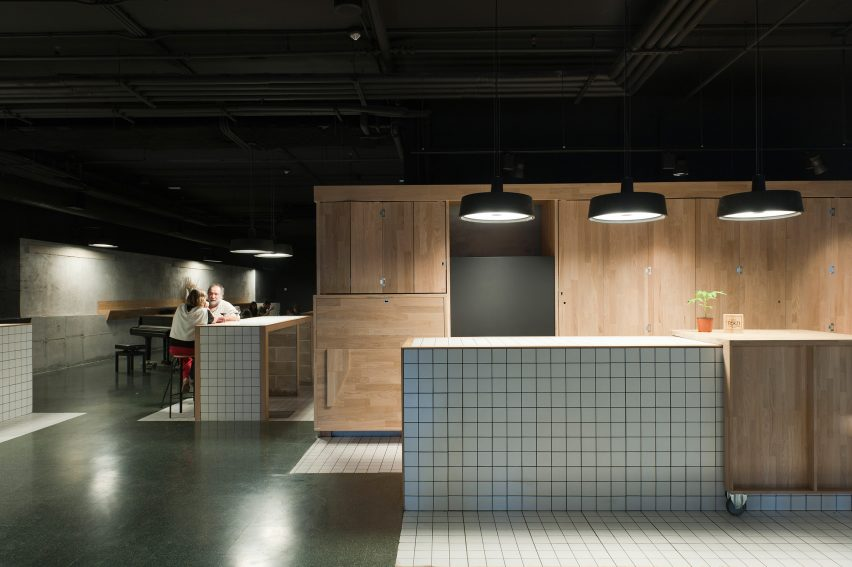 Spanish studio Ibon Salaberria were the winners of the interior design award for the restaurant it designed inside the Tabakalera culture centre in San Sebastián
