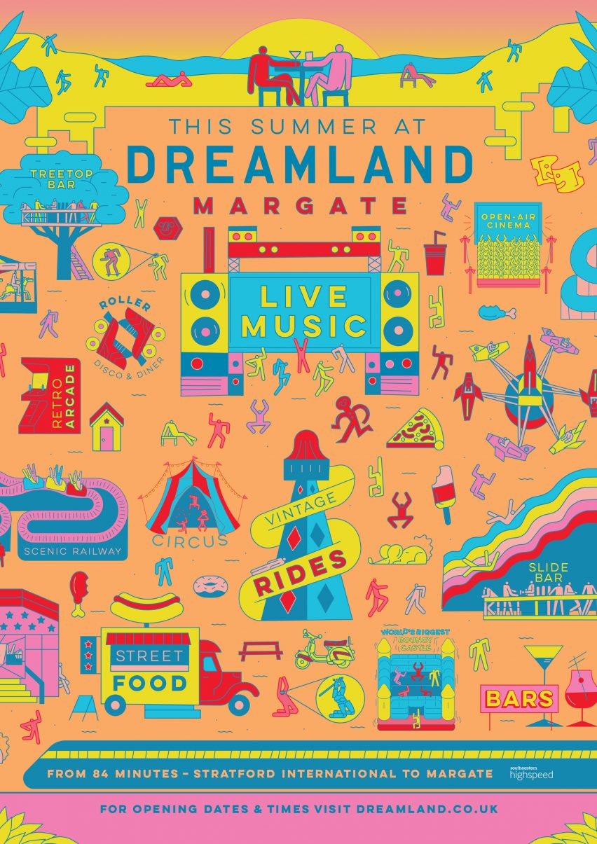 Studio Moross designs posters for relaunched Dreamland theme park
