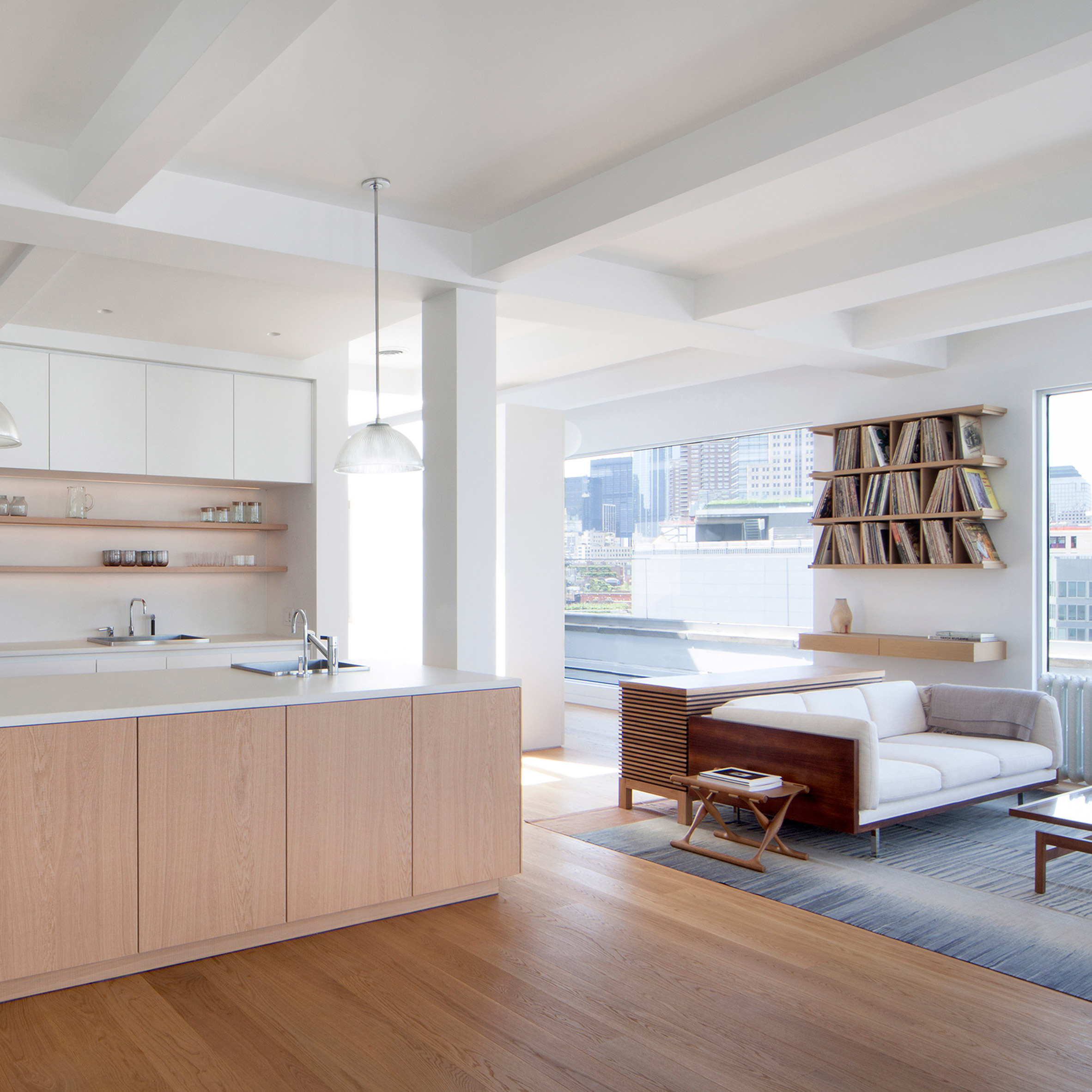 Tribeca penthouse by Space4Architecture features pale material palette